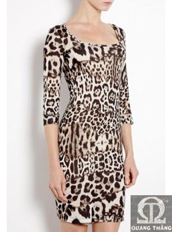 Just Cavalli LEOPARD PRINT JERSEY DRESS
