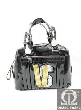 Túi xách Versace Black Leather