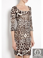 Just Cavalli LEOPARD PRINT JERSEY DRESS
