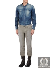 JUST CAVALLI DENIM SHIRTS FOR MEN