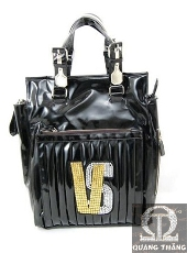 Túi xách Versace Large Leather Black